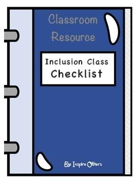 Accommodation Checklist Inclusion Class
