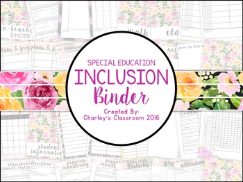 Inclusion/Co-Teaching Binder (Florals)