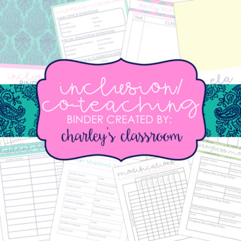 Inclusion Teacher Binder (Island Mode) | for Co-Teaching Special Education