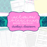 Inclusion/Co-Teaching Binder (Island Mode)