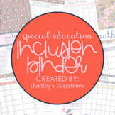 Inclusion Teacher Binder (Just Darling) | for Co-Teaching Special Education