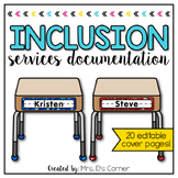 Editable Inclusion Documentation Forms   Editable IEP Service Time Forms
