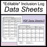 Inclusion Log [Inclusion Data Sheets] [Inclusion Documentation Log Editable]