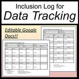 Inclusion Log [Inclusion Data Sheets] [Inclusion Documentation Log Editable]