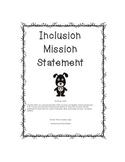 Inclusion Mission Statement