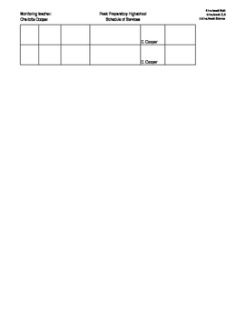 Inclusion Schedule of Services Tracker (edit for each student)