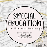 Inclusion Teacher Binder (Pretty & Simple) | For- Co-Teaching Special Education