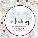 Inclusion Teacher Binder (Sweet Mint)   For Co-Teaching Special Education