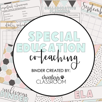 Inclusion Teacher Binder (Sweet Mint) | For Co-Teaching Special Education