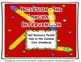 Inclusion and Language Therapy Resource Pack
