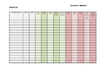 Inclusion checklist