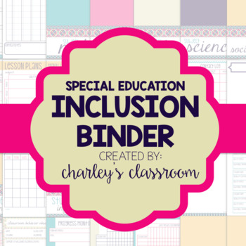 Inclusion Teacher Binder (Aztec Prints) | for Co-Teaching Special Education