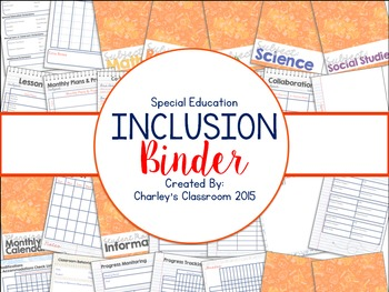 Inclusion Teacher Binder (Notes & Scribbles) | for Co-Teaching Special Education