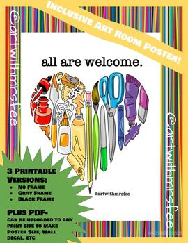 Inclusive Art Classroom Poster: All Are Welcome
