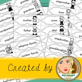 Inclusive Family Word Wall Words with Pictures
