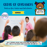 Inclusive Posters for Order of Operations GEMDAS