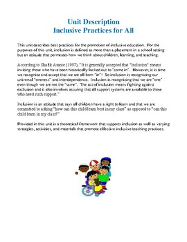 Inclusive Practices In Your Classroom