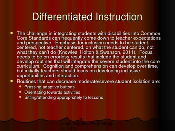 Inclusive Strategies for Moderate/Severe Students: Interactive Math Game