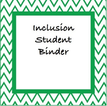 Inclusive Student Folder Pages