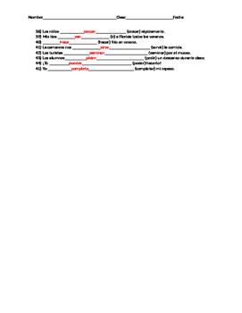 Inclusive present tense review, regulars, reflexives, stem changers, irregulars