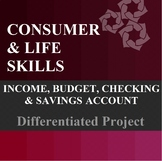 Income, Budget, Checking Account, Savings Account Differen