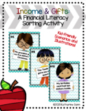 Income & Gifts - Editable Financial Literacy Sort + Task Cards for Small Groups