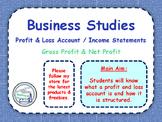 Income Statements - Profit & Loss Accounts - Finance - Net & Gross Profit