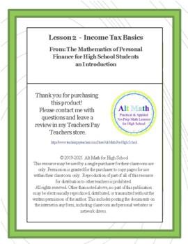 Income Tax Basics