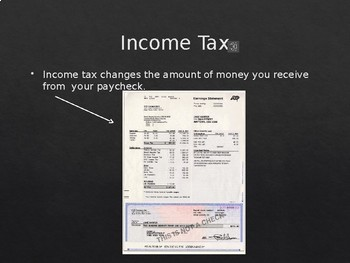 Income Tax PowerPoint- High School Special Education
