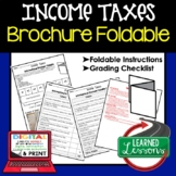 Income Taxes Activity Foldable, Economics Curriculum Personal Finance Activity