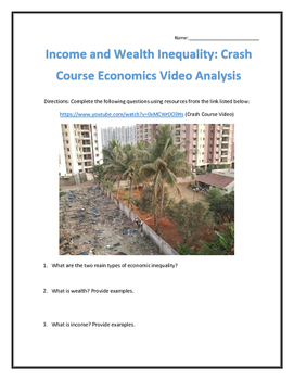 Income and Wealth Inequality: Crash Course Economics- Vide
