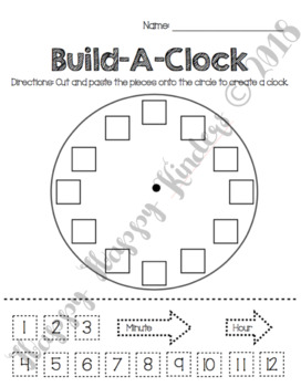 Build A Clock Worksheet