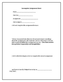 Incomplete Assignment Contract