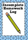 Incomplete Homework Log