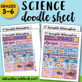 Incomplete Metamorphosis Doodle Sheet - So EASY to Use! PPT included