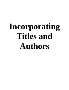 Incorporating Author's Names and Titles into a Sentence