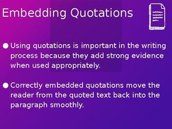 Incorporating Quotations (EDITABLE)