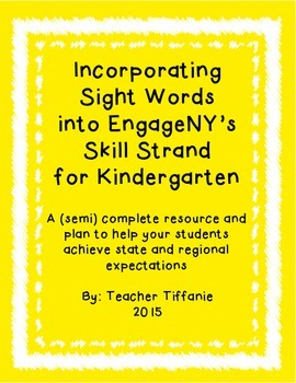 Incorporating Sight Words into EngageNY's Skill Strand for
