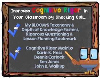Increase Cognitive Rigor with BLOOM & DOK
