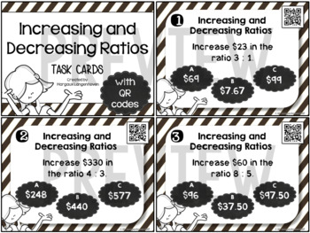Increase and Decrease Ratio Task Cards