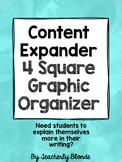Content Expander 4 Square Graphic Organizer