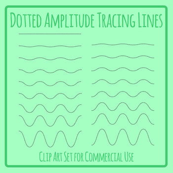 Increasing Amplitude Wavey Lines Dashed or Dotted Tracing Lines for Pen Control