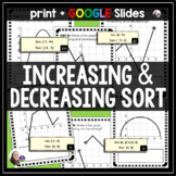 Increasing and Decreasing Functions Matching Activity - print and digital