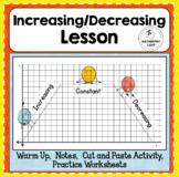 Increasing Decreasing Intervals of Functions Lesson Practi