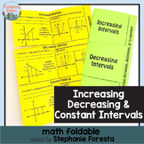 Increasing, Decreasing, and Constant Interval Foldable