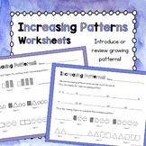 Increasing/Growing Pattern Worksheets!