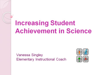 Increasing Student Achievement in Science