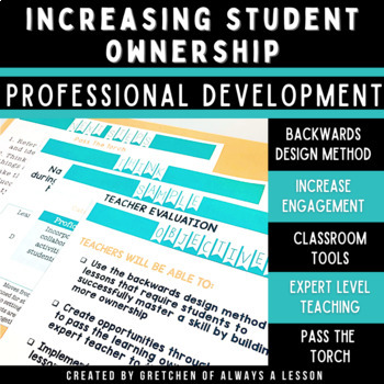 Increasing Student Ownership in the Classroom Professional Development Session