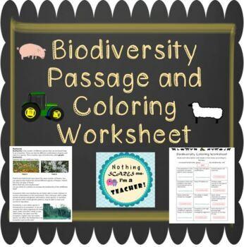 Increasing and Decreasing Biodiversity Coloring Worksheet
