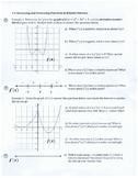 Increasing and Decreasing Functions & Relative Extrema
